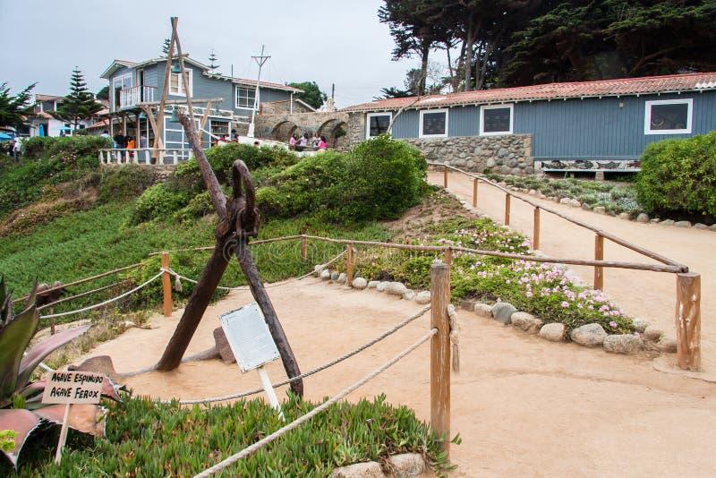 Casa Isla Negra o Chile de Pablo Neruda imagens de stock royalty free