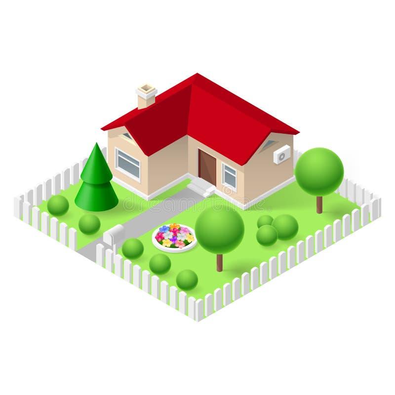 Casa isometrica royalty illustrazione gratis
