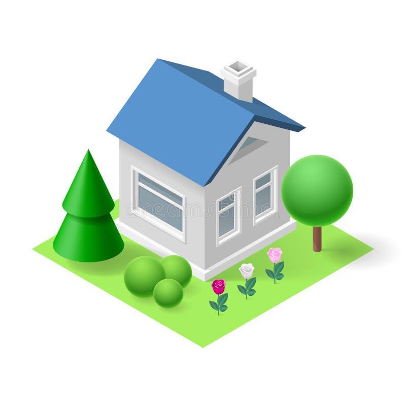 Casa isometrica illustrazione vettoriale