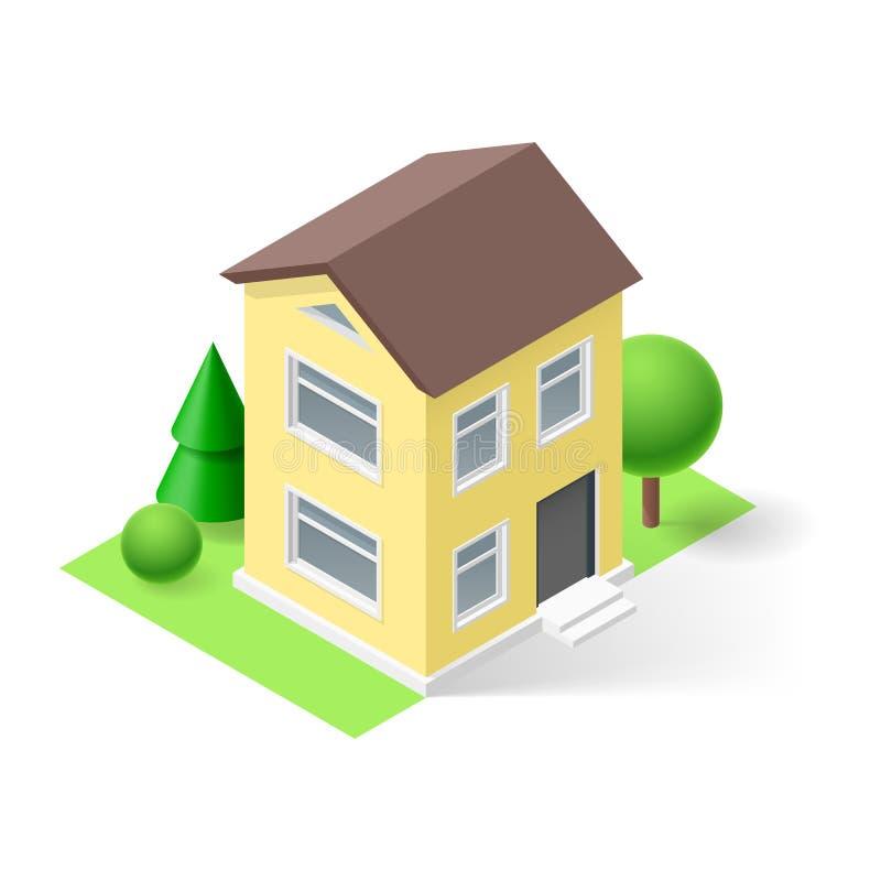 Casa isometrica illustrazione di stock