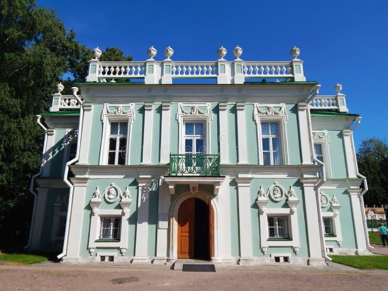 A casa italiana no conjunto arquitetónico Kuskovo do parque, em Moscou fotos de stock