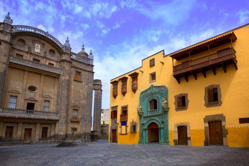 Casa Las Palmas Gran Canaria de Columbo foto de stock royalty free