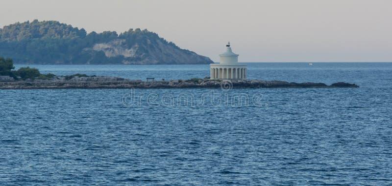 Casa leggera, Lassi, Kefalonia Grecia fotografia stock