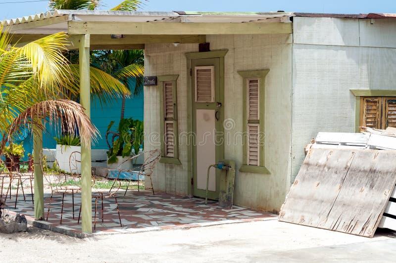 Casa in legno Curacao fotografie stock