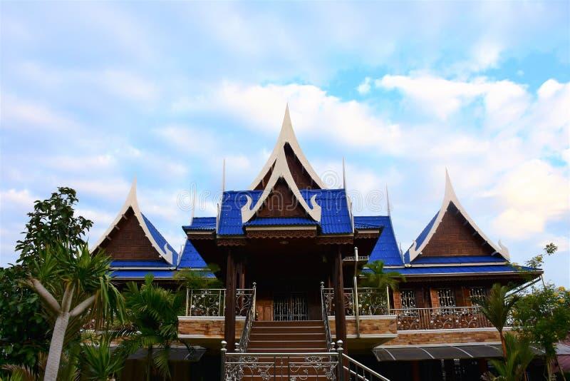 Casa legnosa tailandese fotografia stock