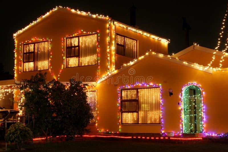 Casa ligera 1 de la Navidad imagen de archivo libre de regalías