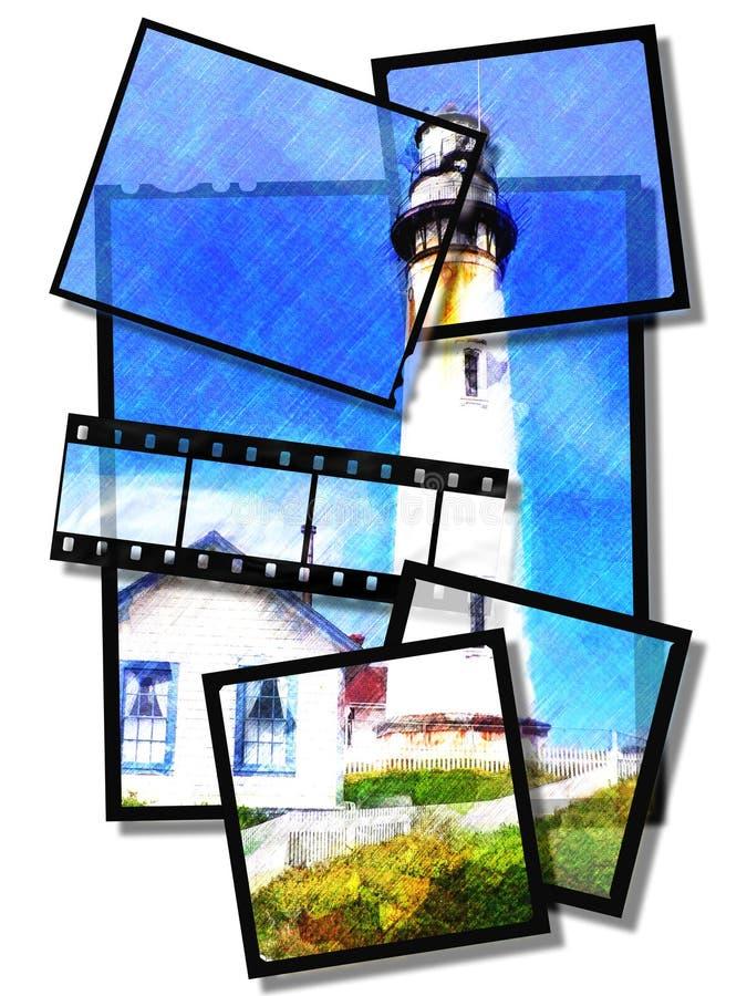 Casa ligera stock de ilustración