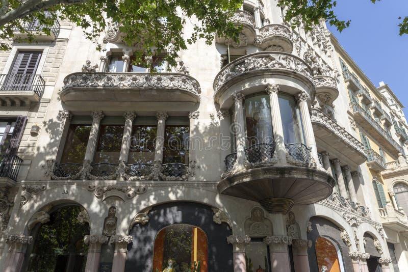 Casa Lleó Morera arkivfoto