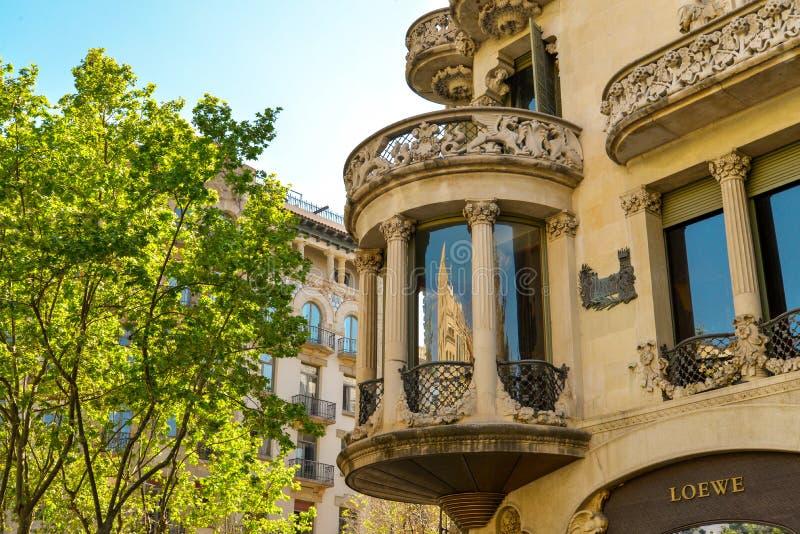 Casa Lleo Morera em Barcelona imagem de stock royalty free