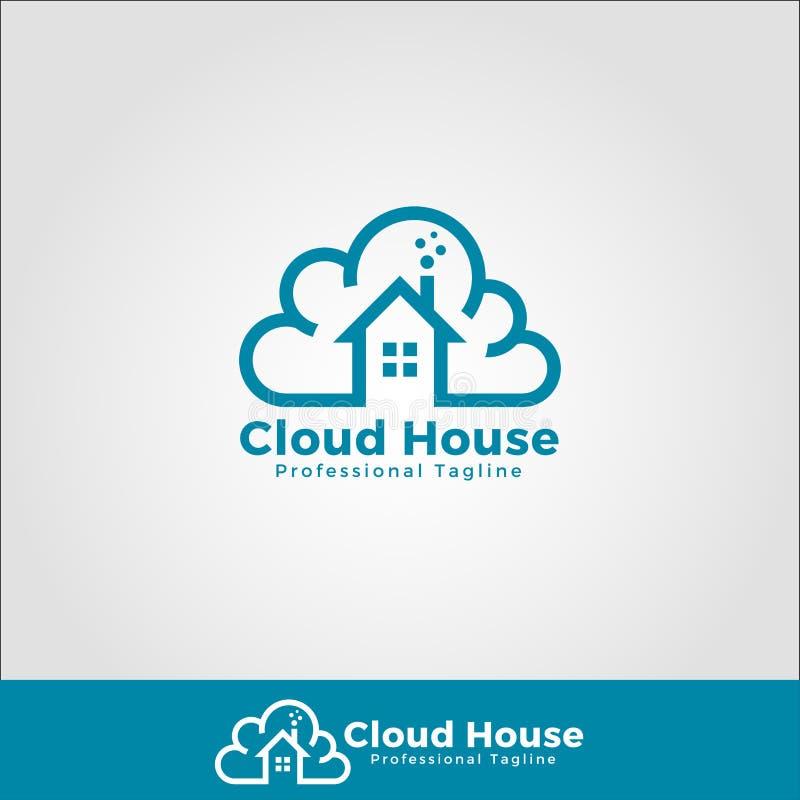 Casa Logo Template da nuvem ilustração do vetor