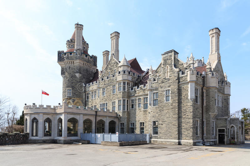 Casa Loma Castle in Toronto stock photography