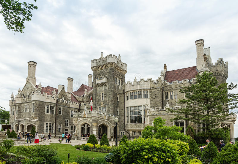 Casa Loma castle in Toronto, Ontario stock images