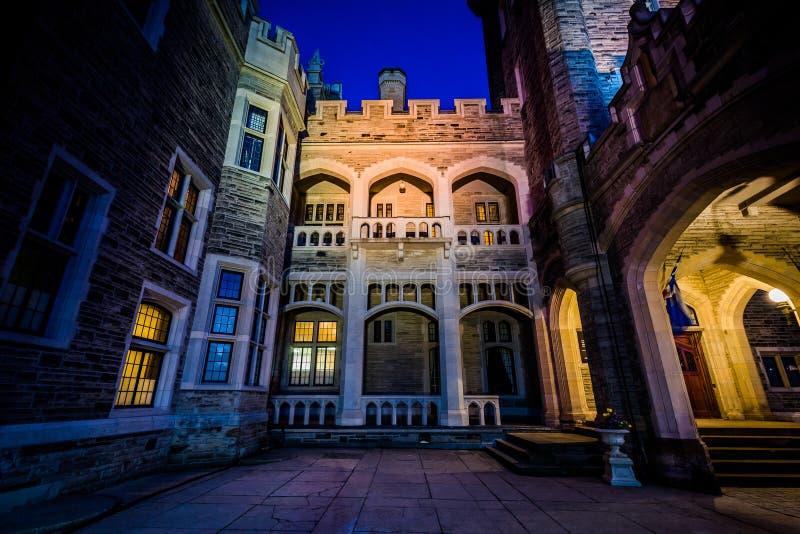 Casa Loma at night, in Midtown Toronto, Ontario. royalty free stock photo