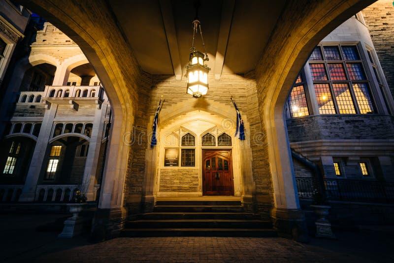 Casa Loma at night, in Midtown Toronto, Ontario. stock images