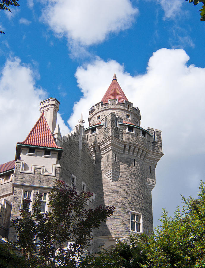Casa Loma, Toronto. Toronto's castle, built by Sir Henry Pellatt, a prominent financier, industrialist and military man. Casa Loma was built just before the royalty free stock images