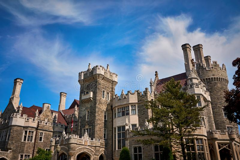 Casa Loma Toronto Canada. Casa loma , Toronto,architecture, building, castle,palace, city, old, stone, sky, history, travel, landmark, tourism,medieval,historic royalty free stock images