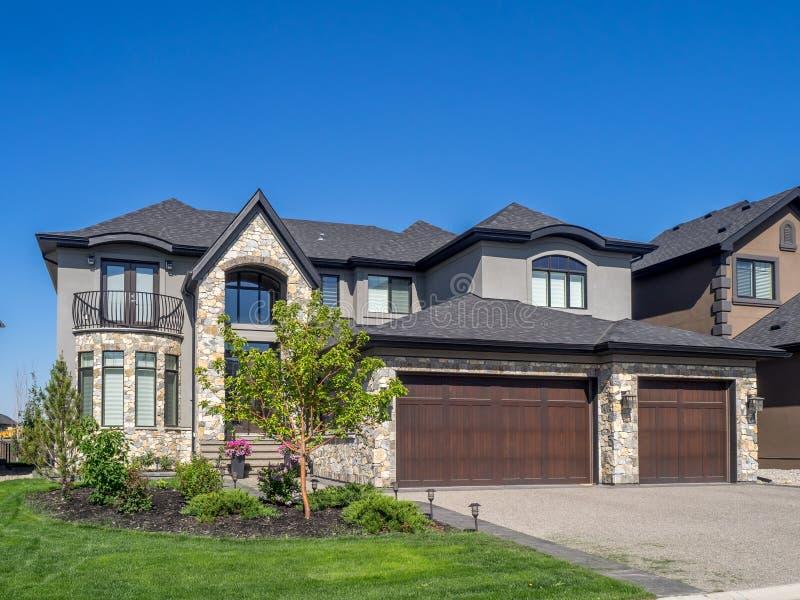 Casa luxuosa, Calgary fotos de stock