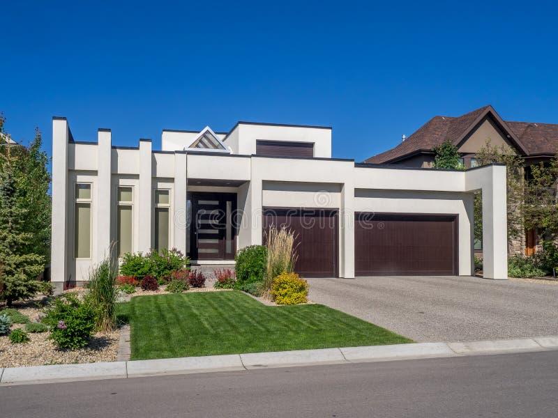 Casa luxuosa, Calgary imagem de stock royalty free