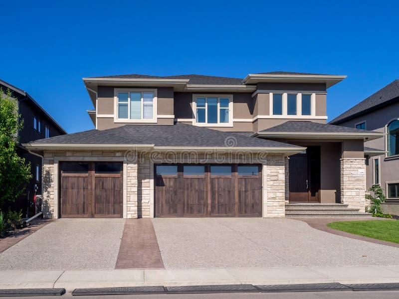 Casa luxuosa, Calgary foto de stock