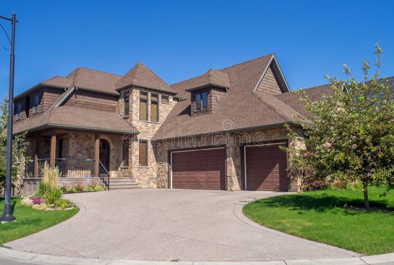 Casa luxuosa, Calgary fotos de stock royalty free