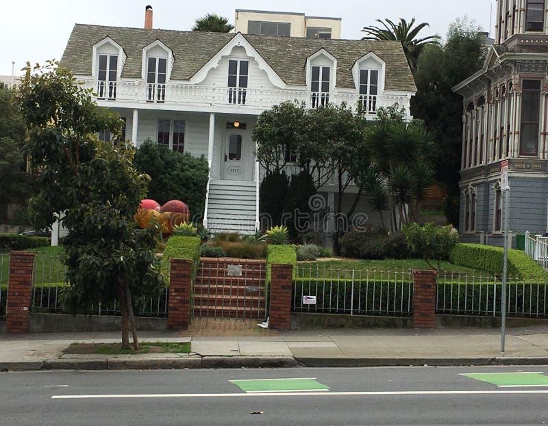 A casa a mais velha em San Francisco, ainda inalterado, 1 fotografia de stock royalty free