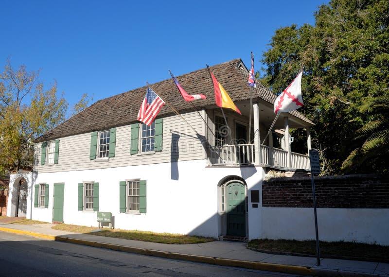 A casa a mais velha em St. Auggustine foto de stock