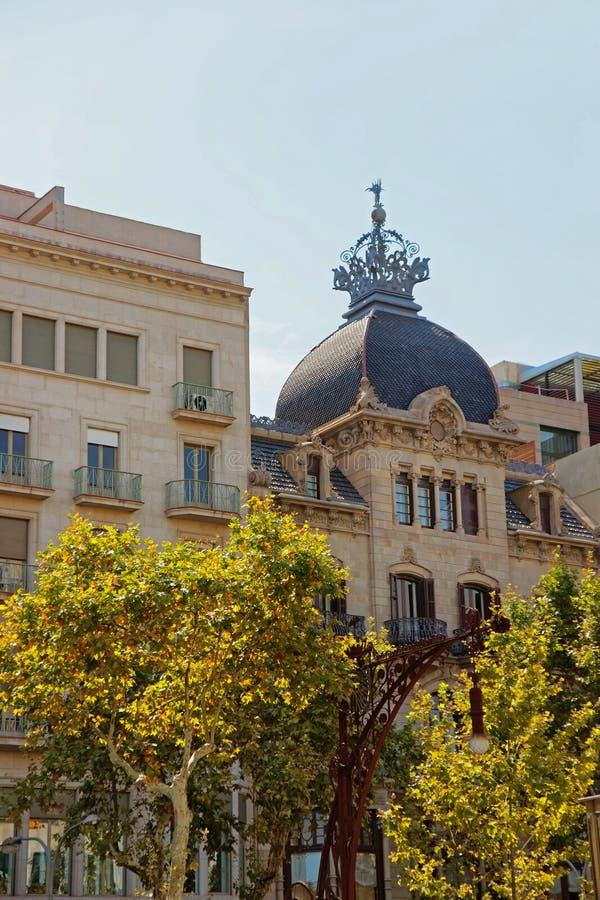 Casa Malagrida på Passeig de Gracia royaltyfri fotografi