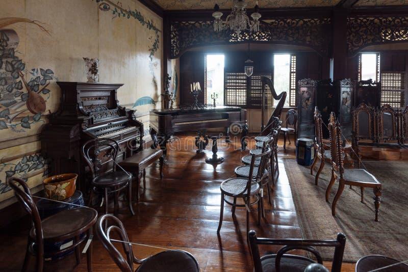 Casa Manila Museum in Manila Philippines. Manila, Philippines - November 30, 2016: Casa Manila is a museum in Intramuros depicting colonial lifestyle during stock images