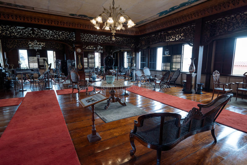 Casa Manila Museum in Manila Philippines. Manila, Philippines - November 30, 2016: Casa Manila is a museum in Intramuros depicting colonial lifestyle during royalty free stock image