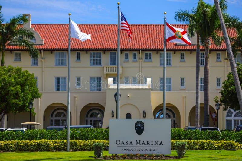 Casa Marina Key West Florida een luxetoevlucht royalty-vrije stock foto's