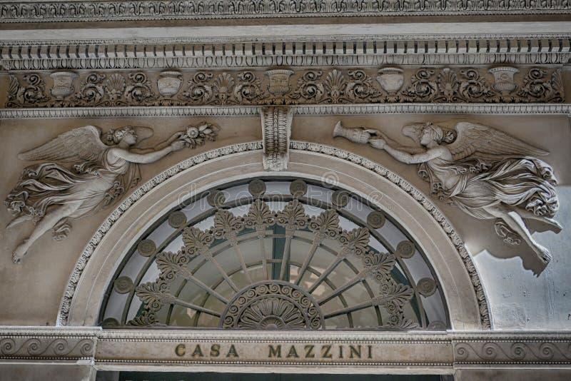 Casa Mazzini, Γένοβα, Λιγυρία, Ιταλία στοκ εικόνες με δικαίωμα ελεύθερης χρήσης