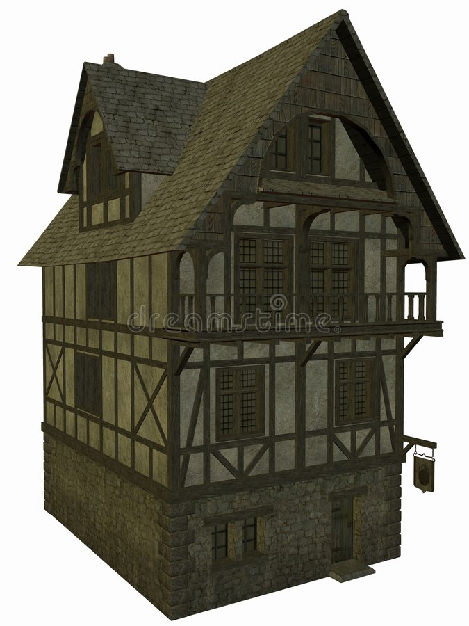 Casa medieval ilustración del vector