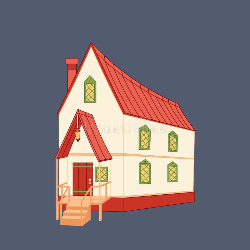 Casa medieval de la historieta stock de ilustración