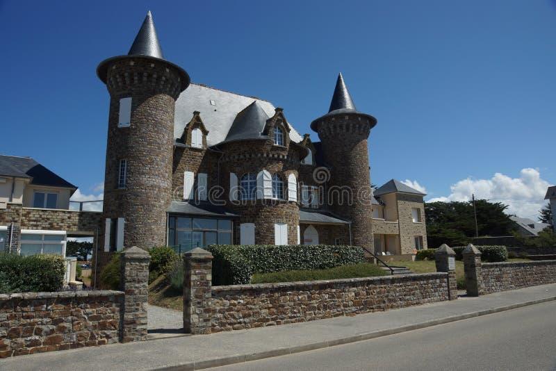 Casa medieval do estilo em França foto de stock royalty free