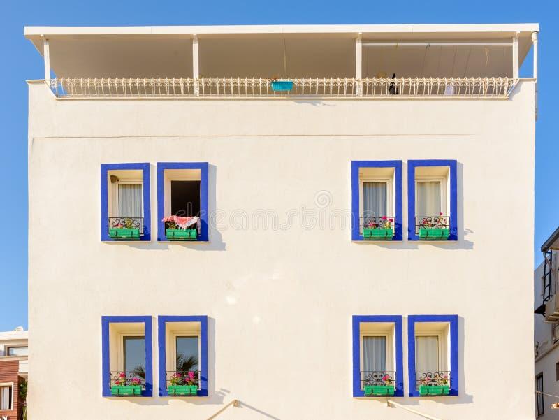 Casa mediterrânea tradicional em Bodrum, Turquia imagem de stock