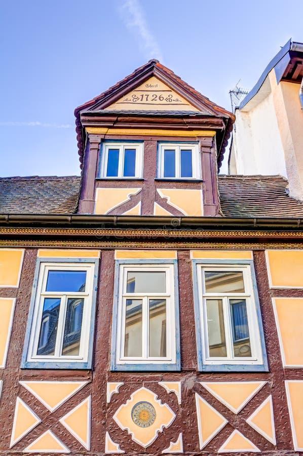 casa Metade-suportada em Aschaffenburg fotografia de stock