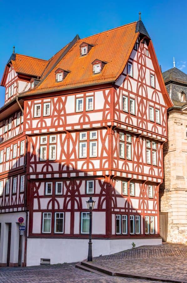 casa Metade-suportada em Aschaffenburg fotos de stock royalty free