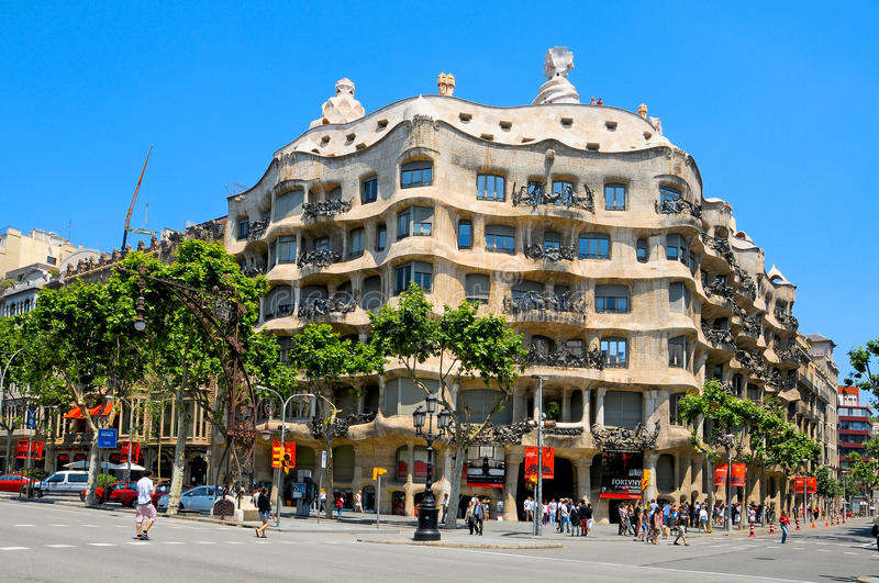 Download Casa Mila, Or La Pedrera, Barcelona, Spain Editorial Photo - Image of mila, historic: 18156201