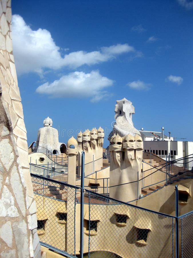 Download Casa Mila roof editorial photography. Image of gaudi - 22646507