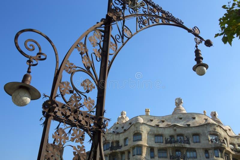 Casa Milia - Barcelona - Spain stock images