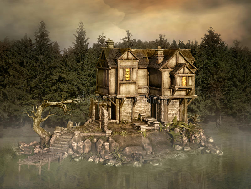 Casa misteriosa royalty illustrazione gratis