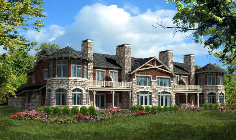 Casa modelo del condominio stock de ilustración