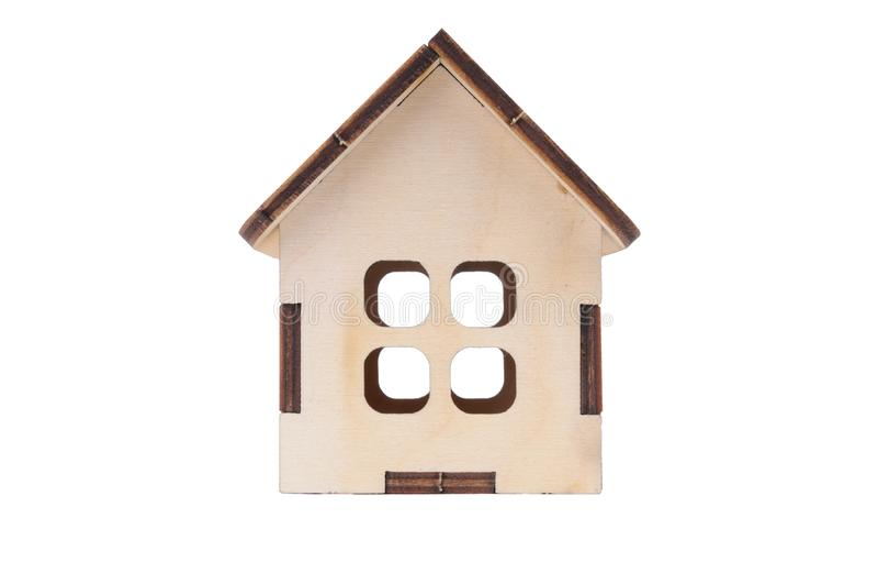 Casa modelo del juguete miniatura fotos de archivo