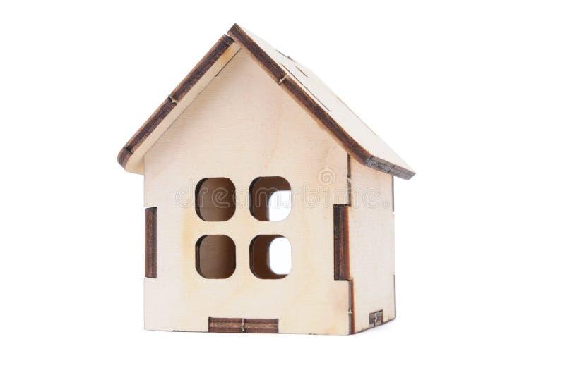 Casa modelo do brinquedo diminuto fotografia de stock royalty free