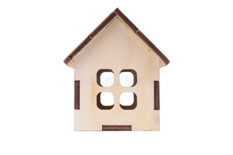 Casa modelo do brinquedo diminuto fotos de stock