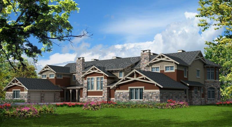 Casa modelo do condomínio ilustração stock