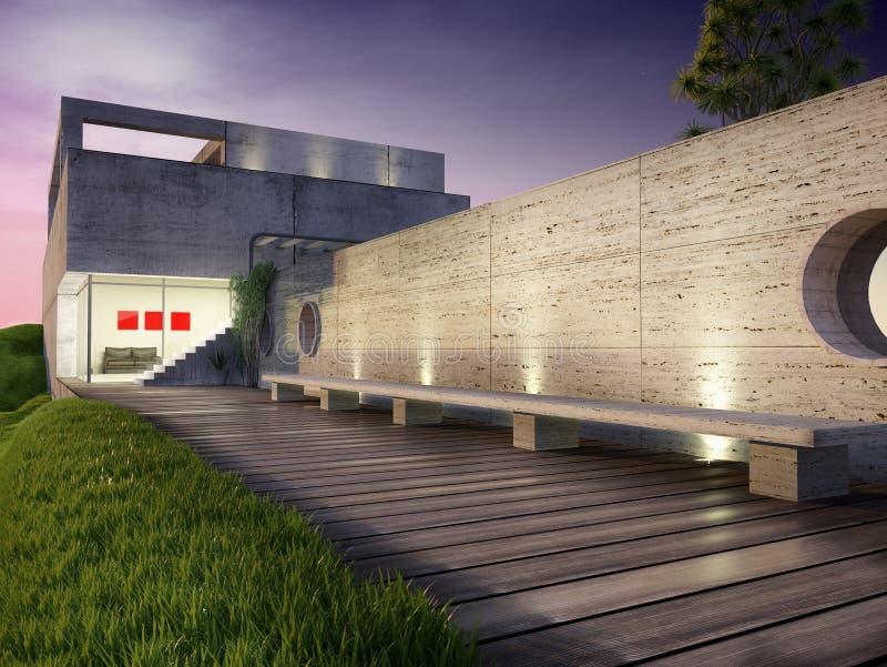 Casa moderna ilustração royalty free