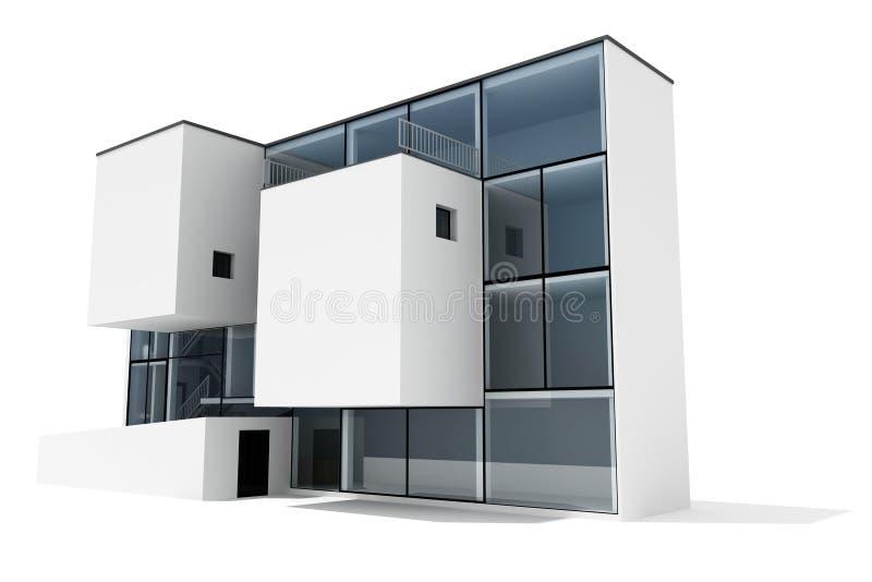casa moderna 3d royalty illustrazione gratis