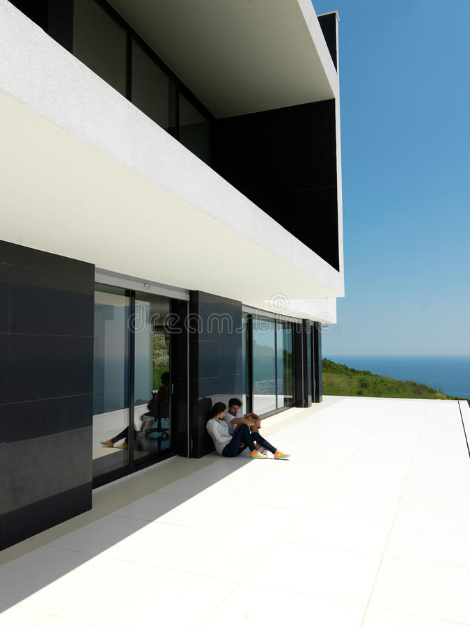 Casa moderna foto de archivo