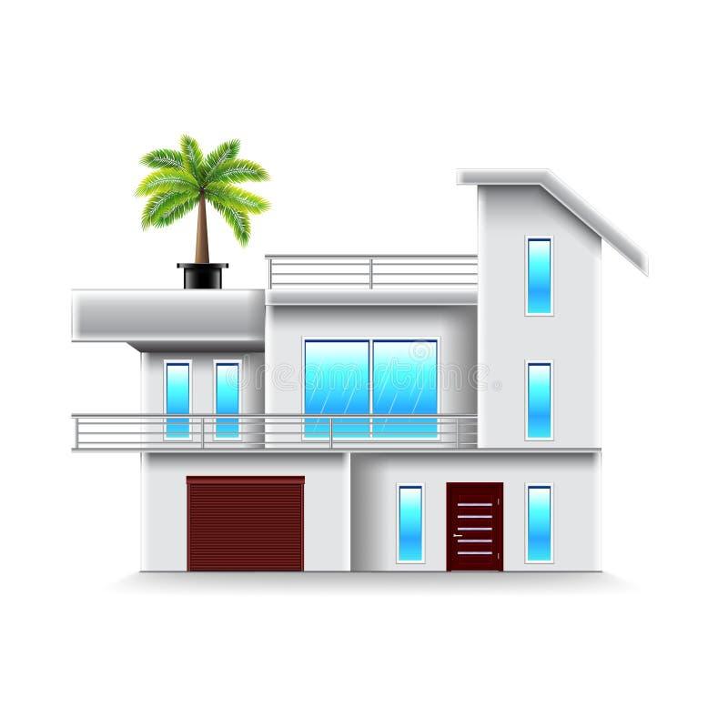 Casa moderna con vector aislado ventanas grandes for Casa moderna vector